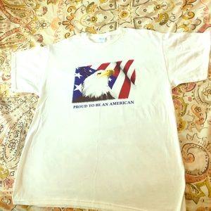 Bald Eagle 🦅 Quality M&O White Tee / 🇺🇸 America